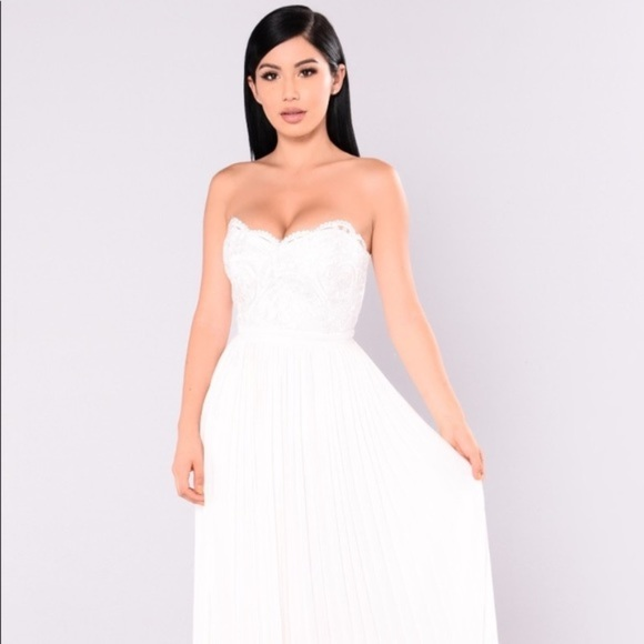 Fashion Nova Beauty Queen Maxi Dress: All White Maxi Dress